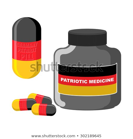 German patriotic pill. Germany Capsule flag. Vector illustration Stock photo © popaukropa