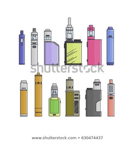 vector mechanical mod vape illustration