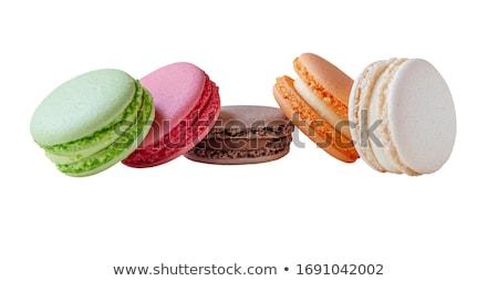 Assorted almond cookies macaroon Stock photo © Melnyk