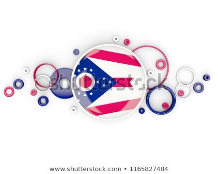 Zászló Ohio körök minta Egyesült Államok helyi Stock fotó © MikhailMishchenko
