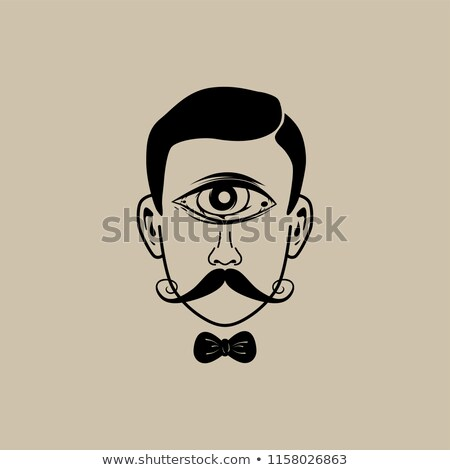 olho · retro · cavalheiro · vetor - foto stock © vector1st