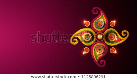 background with colorful diwali diya Stock photo © SArts