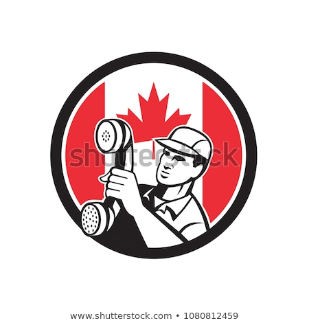 Canadian  Telephone Installation Repair Technician Icon Stock photo © patrimonio