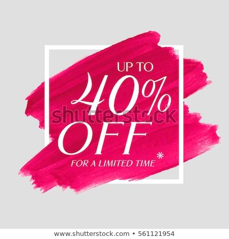 w · górę · 25 · procent · sprzedaży · banner · biały - zdjęcia stock © designer_things