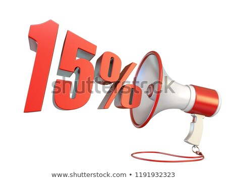15 procent teken megafoon 3D Stockfoto © djmilic
