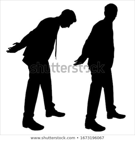 mãos · homem · criminal · algemas · lei · justiça - foto stock © elnur