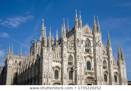 Architectural details at the Milan Cathedral, Italy Stock photo © boggy