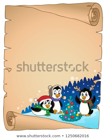 Christmas perkament papier gelukkig kunst winter Stockfoto © clairev