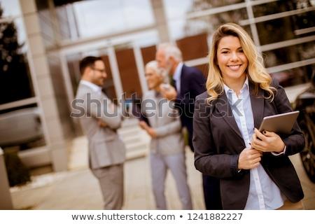 Giovani piedi outdoor altro gente che parla Foto d'archivio © boggy