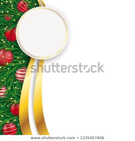 Christmas Flyer Oblong Emblem Stock photo © limbi007