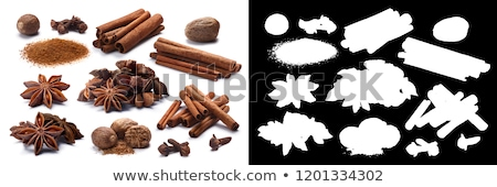 Set of Star anise (dried Ilicium fruits), paths Stock photo © maxsol7