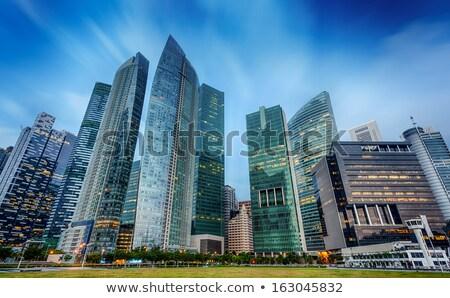 Singapour affaires architecture modernes immeubles de bureaux ciel Photo stock © joyr