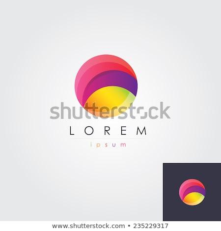 circle o letter logo purple green vector icon Stock photo © blaskorizov