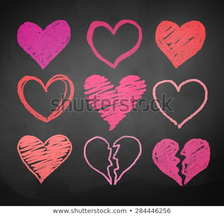 Broken heart on a pink background, vector illustration. Stock photo © ikopylov