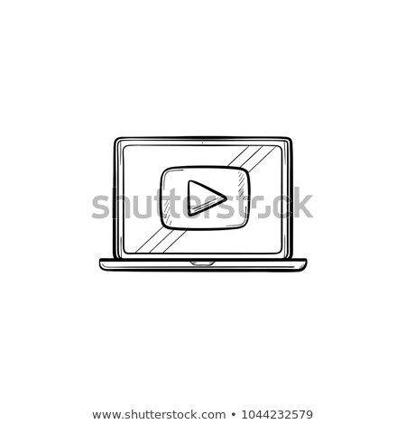 видео учебник рисованной эскиз икона Сток-фото © RAStudio