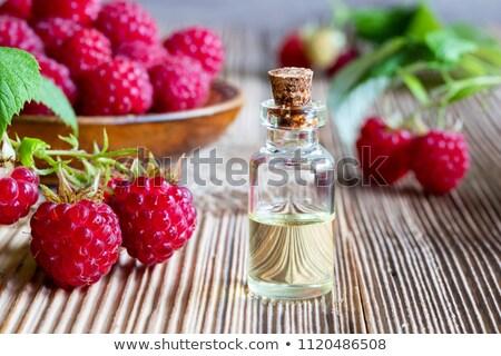 fles · framboos · zaad · olie · vers · frambozen - stockfoto © madeleine_steinbach