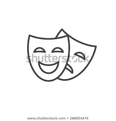 theatre masks icon vector logo symbol Stock photo © blaskorizov