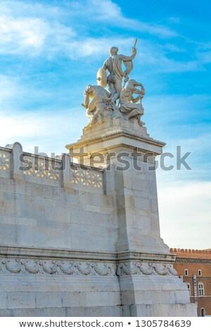 Estatua fuerza Roma Italia cielo arte Foto stock © boggy