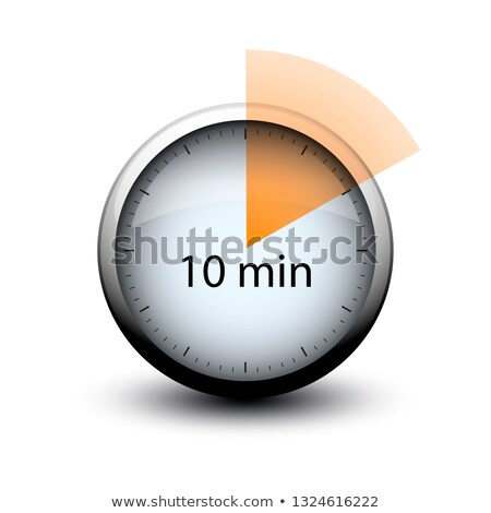 stopwatch with expiring time 10 minutes web icon Stock photo © mizar_21984