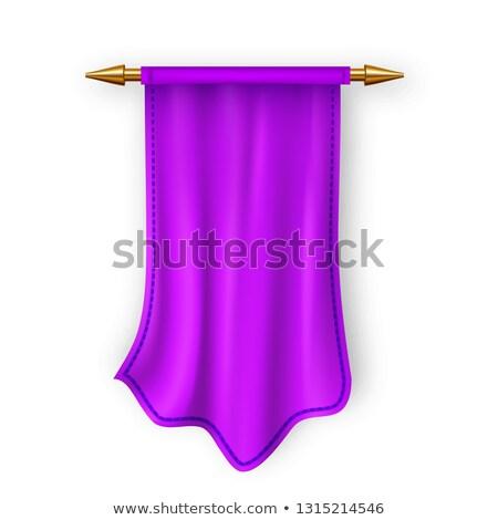 Violeta bandera vector vacío plantilla tejido Foto stock © pikepicture