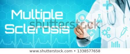 Médico tocar icono futurista interfaz múltiple Foto stock © Zerbor