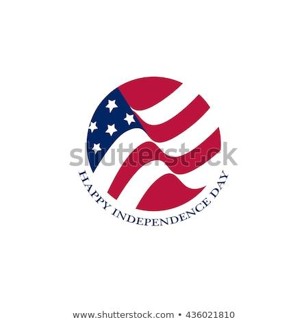 Rozet dizayn Amerika Birleşik Devletleri Amerika bayrak örnek Stok fotoğraf © colematt
