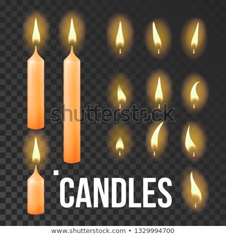 свечей · набор · 10 · цвета · ребенка · вечеринка - Сток-фото © pikepicture