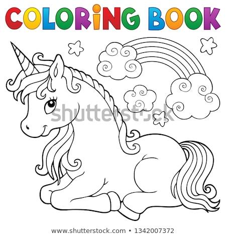 stylized unicorn theme image 1 stock photo © clairev