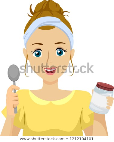 Genç kız yağ doğal ev örnek Stok fotoğraf © lenm