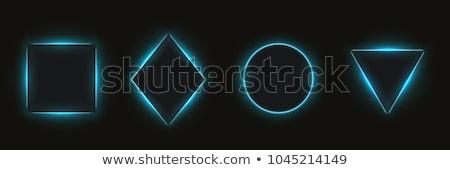 Zwarte neon cijfer illustratie stijl Stockfoto © Blue_daemon