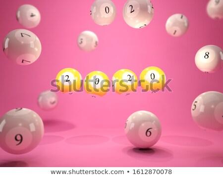 宝くじ · 白 · 表 · レンダリング · 3次元の図 - ストックフォト © oakozhan