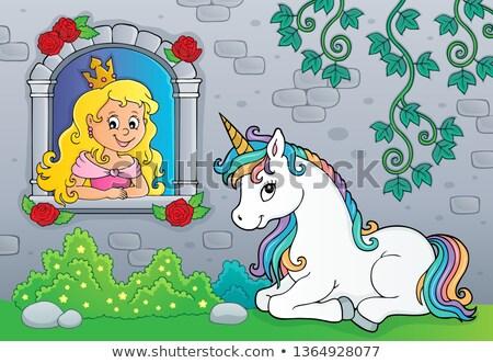 piękna · princess · wzrosła · ilustracja - zdjęcia stock © clairev