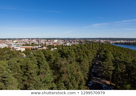 View of Tampere Finland taken at Pyynikki lookout tower Stock photo © Juhku