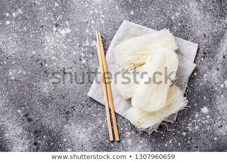 Raw funchoza, Korean bean noodles foto stock © furmanphoto