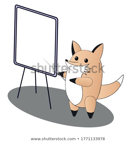 manager fox character presenting charts vector stock photo © robuart