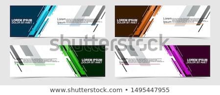 Flagge · Berg · top · line · Symbol · Gliederung - stock foto © haris99