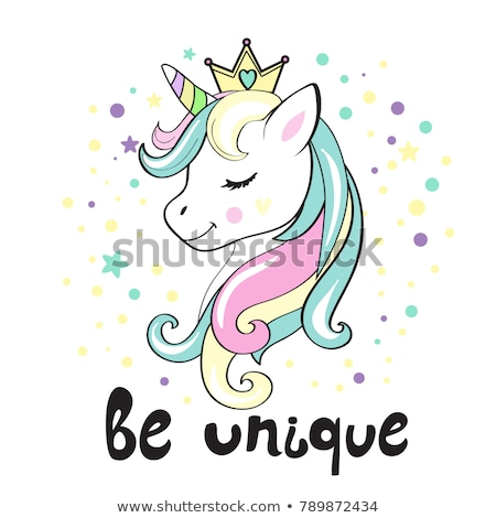 cute cartoon unicorn concept stock photo © bluering