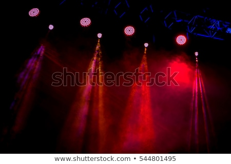 several red stage lights in the dark stock photo © unweit