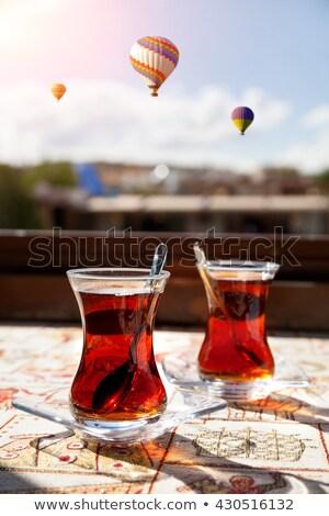 Turco té negro cuchara beber rojo Foto stock © grafvision