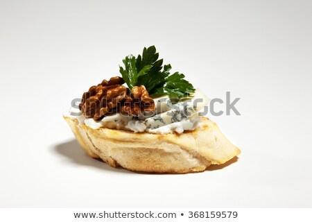 Sandwiche with salami and walnut Stock photo © Melnyk