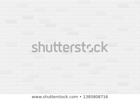 Modern White Brick Wall Building Element Vector Stock photo © pikepicture