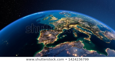 Detailed Earth. Spain and the Mediterranean Sea Stock photo © Antartis