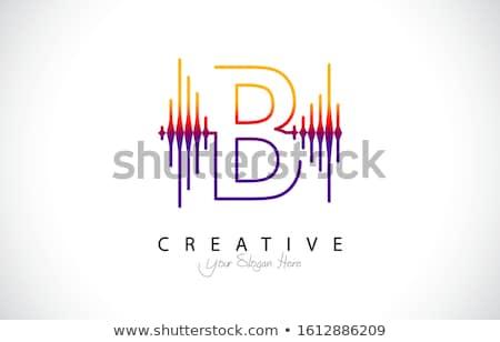 Abstrato onda sonora ilustração cartas em pé topo Foto stock © lenm