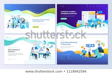 business analysis landing page template stock photo © rastudio