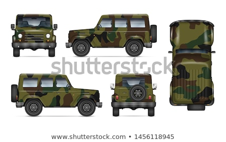 Gerçekçi askeri kamyon ordu yalıtılmış vektör Stok fotoğraf © YuriSchmidt