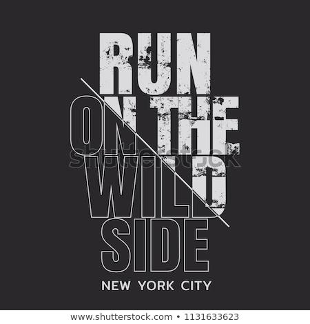 Ejecutar maratón tipografía camiseta gráficos deporte Foto stock © Andrei_