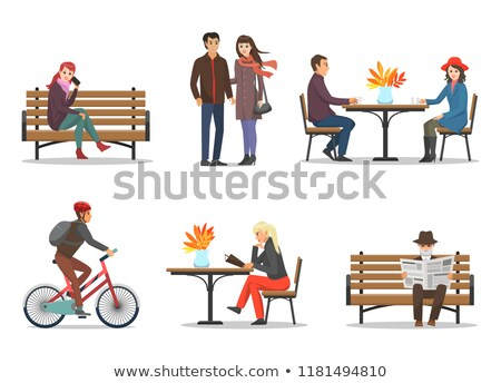 Autumn Period and Autumnal Activities Set Vector Stock photo © robuart