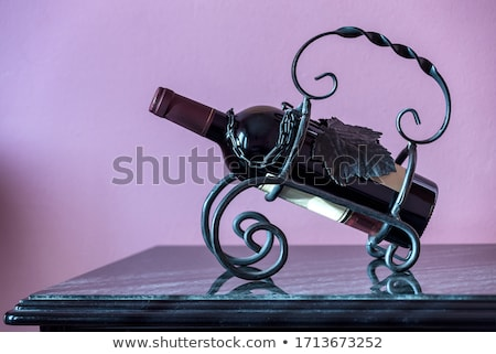 Bottle of Red Wine Isolated Background with Rays Stock photo © robuart
