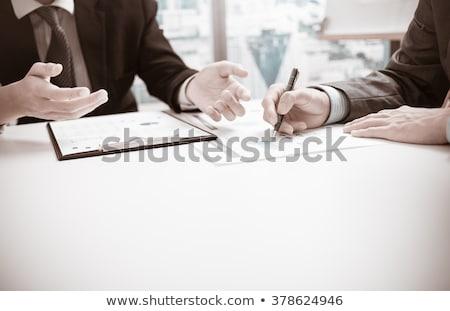 dois · homem · de · negócios · contador · trabalhando · financeiro · investimento - foto stock © Freedomz
