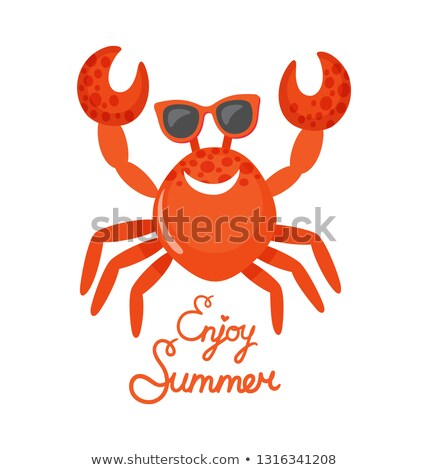 Enjoy Summer, Crab in Glasses, Oceanic Animal Stock photo © robuart